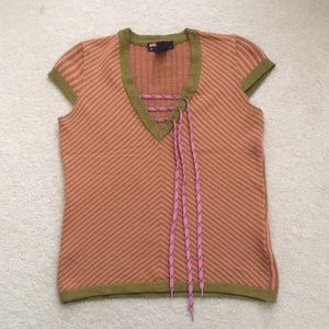 Diesel Shoe-laced Knitted Top